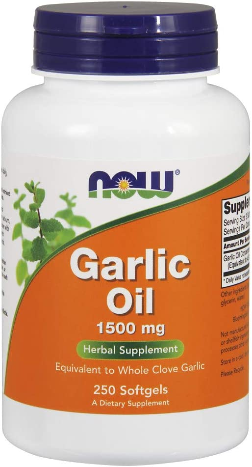 NOW Supplements, Garlic Oil 1500 mg, Serving Size Equivalent to Whole Clove Garlic, 250 Softgels: Health & Personal Care