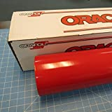 24'' x 100 Ft Roll of Oracal 651 Red Vinyl for Craft Cutters and Vinyl Sign Cutters