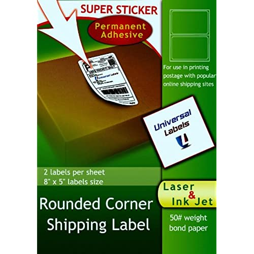 free shipping 200 Rounded Corner Shipping Labels - Matte White