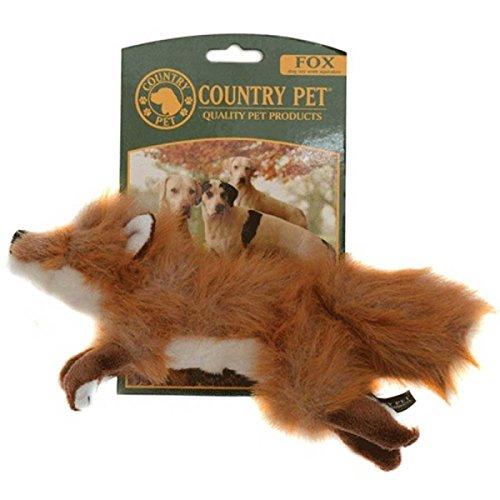 Country Pets CP280527 Hundespielzeug Fuchs, Plüsch mit Quietschie, Medium