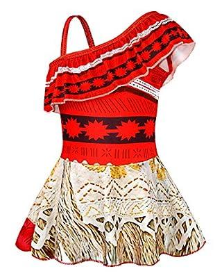 AmzBarley Moana Swimsuits for Girls Two Piece Off Shoulder Bikini Set Age 1-8 Years