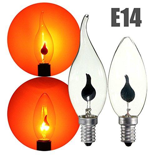 Lot Red E14 3W Retro Chandelier Fire Candle Light Flame Edison Bulb Lamp Ac220v  Random  Model