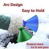 Round Windshield Ice Scraper, Magic Cone-Shaped Car Windshield Ice Scraper, Magic Funnel Car Snow Removal Shovel Tool