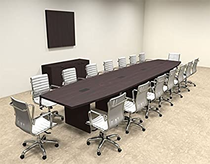 Amazoncom UTM Modern Boat Shaped Feet Conference Table OFCON - 18 foot conference table