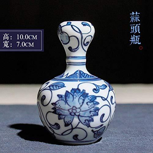 QHP Jingdezhen Especial Porcelana Azul Y Blanca Pintada a Mano, Antigua Cerámica China, Pequeño Jarrón, Artesanía,...