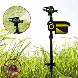Solar Scarecrow Motion Activated Water Sprinkler Animal Repellent Garden Sprinkler Solar Powered Animal Detect Drive Sprinkler Spray Water Kit 30 Feet 7.4'x3.1'x25'' (US Stock)