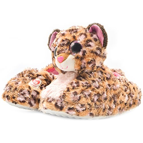 Official Ty Beanie Boos Kids Slipper Patches Leopard -