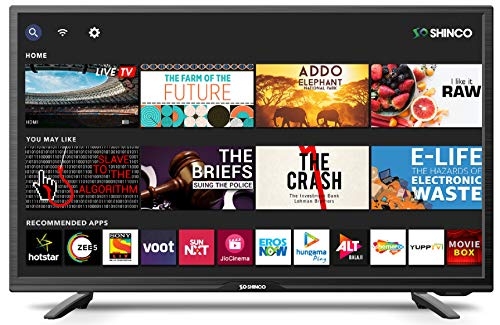 Shinco 80 cm (32 Inches) HD Ready Smart LED TV SO328AS (Black) (2020 Model)   With Uniwall
