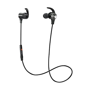 Hearso Bluetooth Headphones with Mic, Wireless 4.1 Earphones Magnetic On-off Control Earbuds Sports