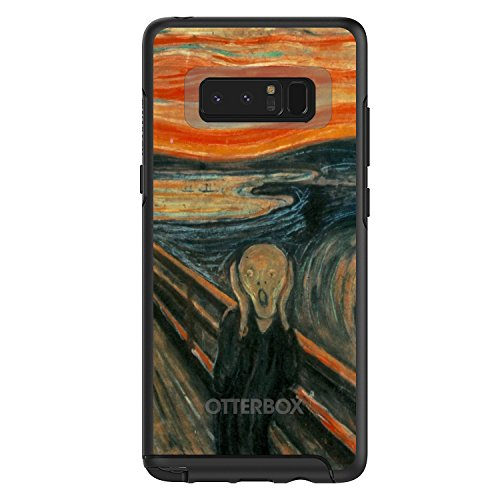 Edvard Munch Note - DistinctInk Case for Galaxy Note 8 - Custom Black OtterBox Symmetry - Edvard Munch The Scream - Classic Art