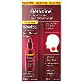 Betadine - Concentrated Sore Throat Gargle - Value Pack (40ml, 1.3 fl oz.)