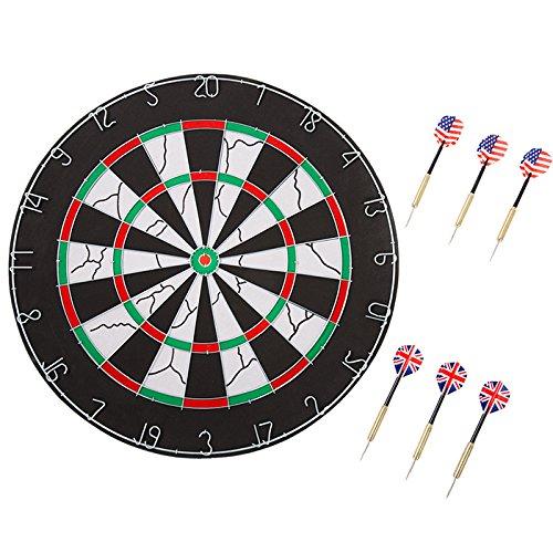double sided flocking dartboard set