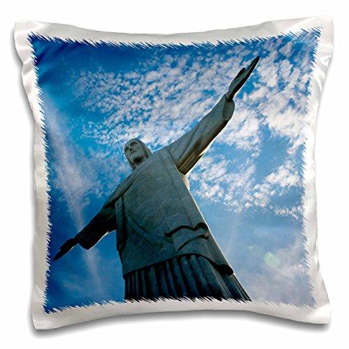 3dRose Statue of Christ the Redeemer on Corcovado, Rio De Janeiro, Brazil Pillow Case, 16 x (Corcovado Christ Redeemer Statue)