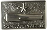 Nocona Men's Rectangle Come and Take It Buckle, silver, One Size