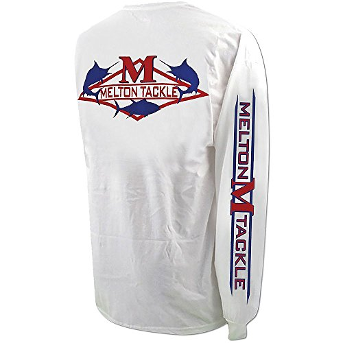 Melton Tackle Diamond Logo Long Sleeve Shirt - White - Large