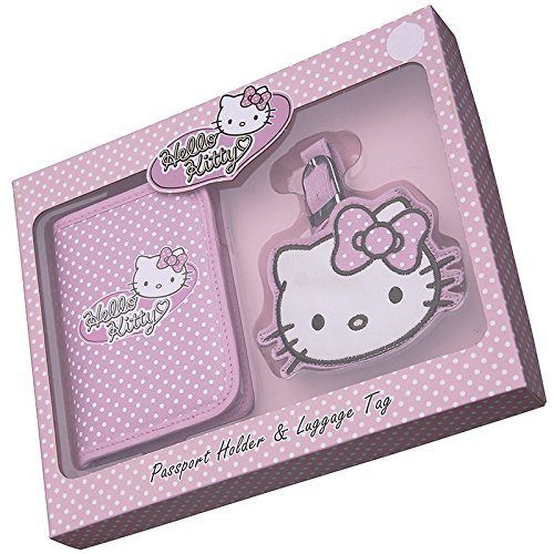 Hello Kitty Passport Holder And Luggage Tag (Hello Kitty Luggage Tag)