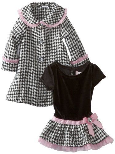 Youngland Baby Girls' Houndstooth Coat Set
