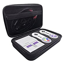 Jadebones Carrying Case for Nintendo SNES Classic Mini Edition, Hard Travel Case for Super NES Classic Mini Console, 2 Controllers, HDMI Cable and other Accessories Storage Bag