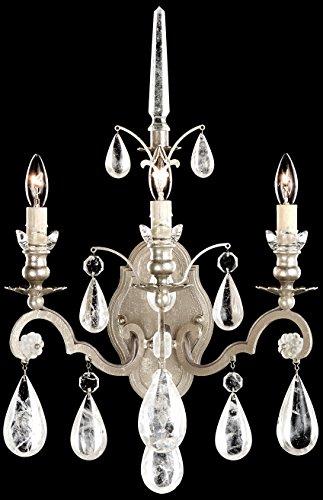 Schonbek 2462-26 Swarovski Lighting Versailles Rock Crystal Wall Sconce, French Gold