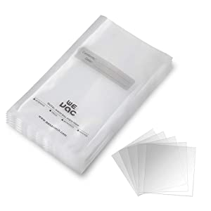 Vacuum Sealer Bags 100 Quart 8x12 Inch for Food Saver, Seal a Meal, Gamesaver, Weston. Commercial Grade, BPA Free, Heavy Duty, Puncture Prevention, Great for vac storage, Meal Prep or Sous Videion, Great for Meal Prep or Sous Vide
