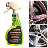 Car Wheel King, Acid-Free, Extremely High Cleaning Power for All Wheel Types, with Active Indicator, Gentle Rim Care for Motorcycle Rims, 500 ml