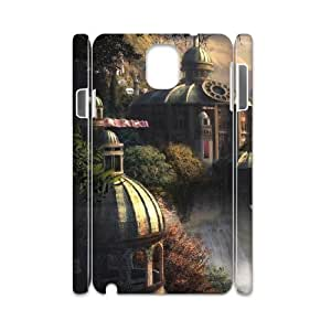 3D Nuktoe City Samsung Galaxy Note 3 Case City of Elfs for Women Protective, Samsung Galaxy Note 3 Case for Men, {White}