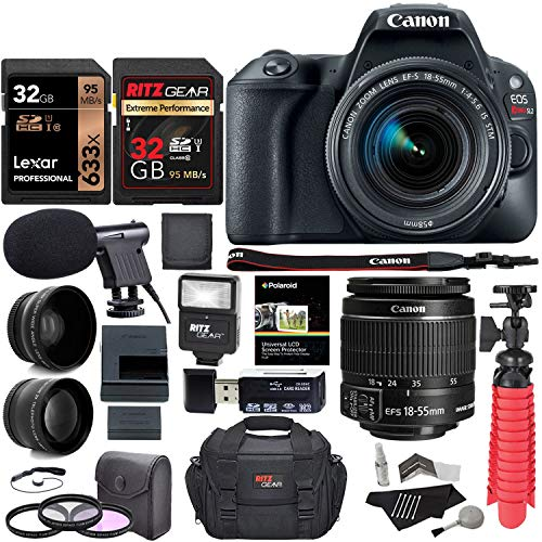 Canon EOS Rebel SL2 DSLR Camera + EF-S 18-55mm IS STM, [This camera has almost the exact features of the Canon EOS Rebel T7i in compact version] includes 1 year full manufacture warranty+ Total 96GB M