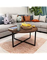 Small Tables for Kitchen Dining Room Creative Round Desk with Black Metal Legs Modern Coffee Table Balcony Tea Table Study Desk Brown