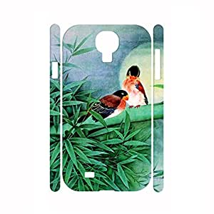 Deluxe Handmade Designer Hipster Bamboo and Animal Pattern Skin for Samsung Galaxy S4 I9500 Case