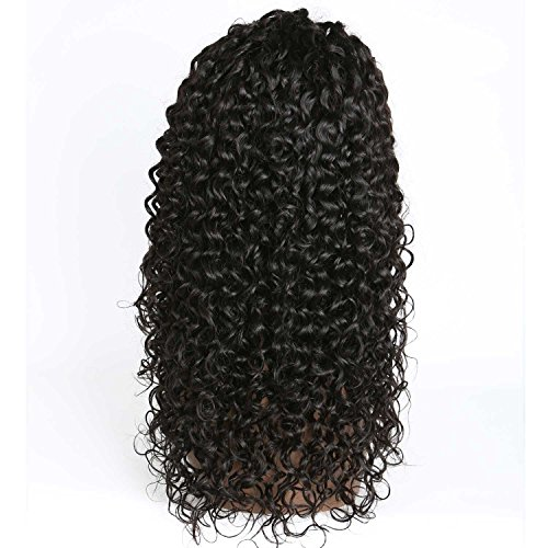 Weave Master Curly Lace Front Human Hair 130% Density Brazilian Remy Wigs with Baby Hair For African Americans Natural Color (16inch) by weave master (Image #8)