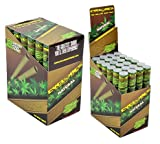 Cyclones Natural Flavored Pre-Rolled Hemp Wraps (Full Box, 48 Wraps) with Black ES Odorless Bag