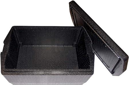 BOX GEL Unidades 1 Cubeta Protector superresistente CM 68 X 45 Alto, (Medidas Exteriores) Caja Térmica Negra para el Transporte Alimentos de Poliestireno: Amazon.es: Hogar
