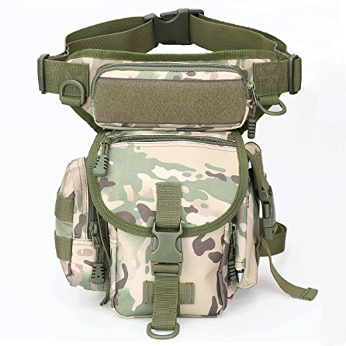 Multipurpose Tactical Fanny Pack Walking Man Military Drop Leg Bag Tool Thigh EDC Waist Belt Pack Leg Pouch Paintball Airsoft Motorcycle Riding Camera Messenger Bag Purse for Men Tactical iphone Case