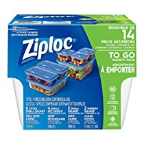 Ziploc Brand Containers, To Go Variety Pack, 7 Count