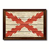 Spanish Ensign Spain Royal War Military Flag Texture Canvas Print Brown Picture Frame Home Decor Wall Art Decoration Gift Ideas Signs 27''X39''