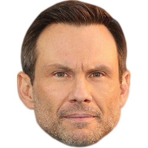 Christian Slater Celebrity Mask, Card Face and Fancy Dress -