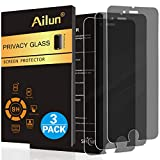 Ailun Screen Protector Compatible with iPhone 8 Plus 7 Plus Privacy Anti Glare 3Pack Tempered Glass Compitable with Phone 8 7 Plus Anti Scratch Case Friendly