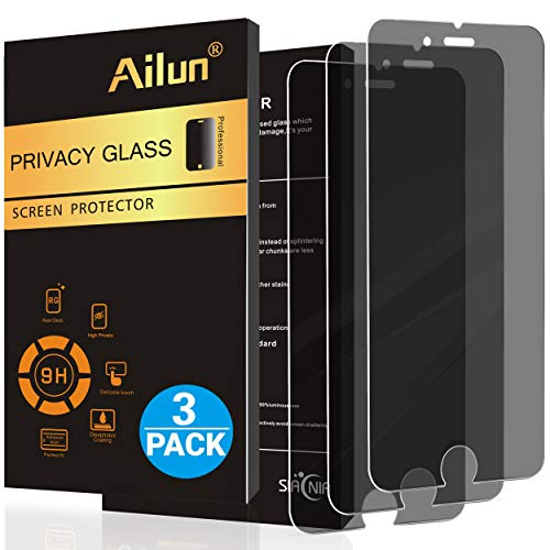 Ailun Screen Protector Compatible with iPhone 8 Plus 7 Plus Privacy Anti Glare 3Pack Tempered Glass Compitable with Phone 8 7 Plus Anti Scratch Case Friendly (Iphone 7 Plus Touch Screen Not Working Properly)