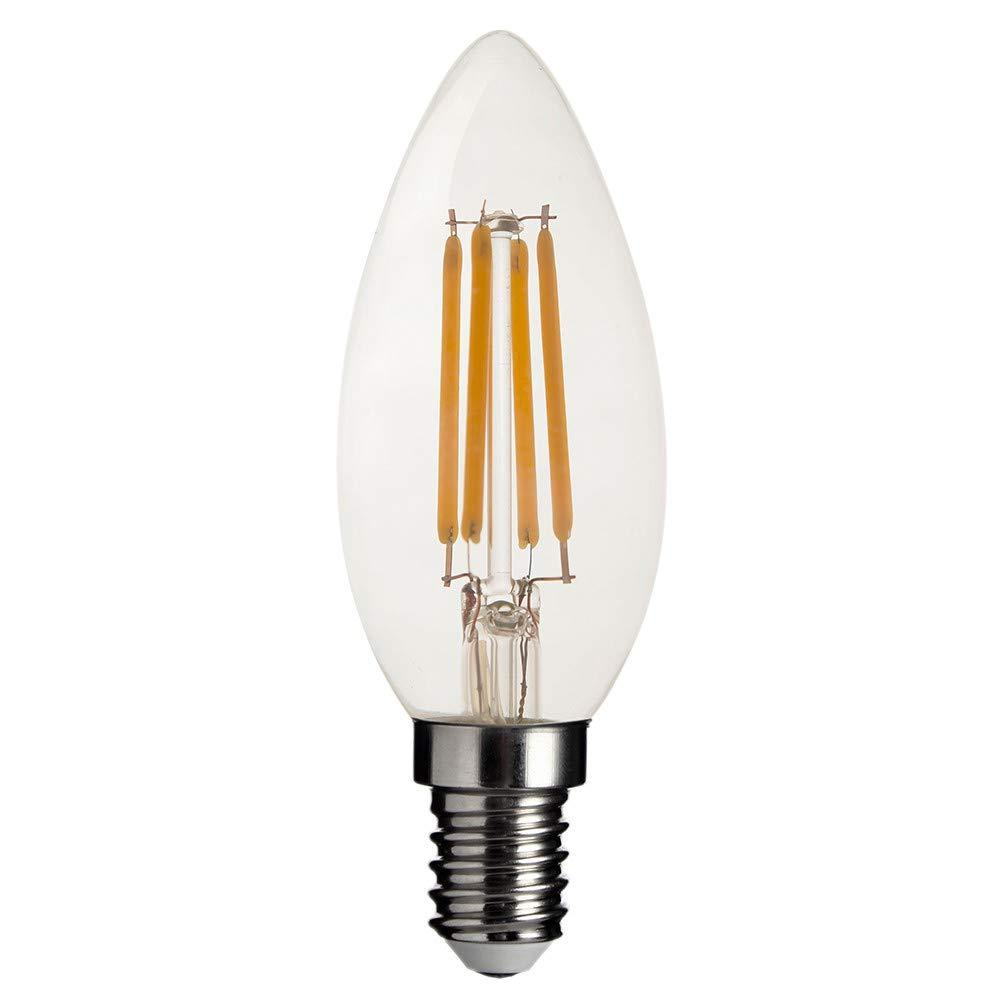 4PC LED Lamp E12 120V LED Bulb LED Bulb Actual Power 4.5W Warm Lamp Lampada