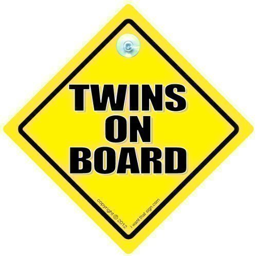 Twins On Board Car Sign, Baby Car Sign, Bumper Sticker, Decal, Unisex Maternity, Pregnacy