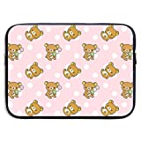 Rilakkuma Laptop Sleeve Waterproof Neoprene Protective Zipper Pockets for 13/15 Inch MacBook/Notebook/Surface