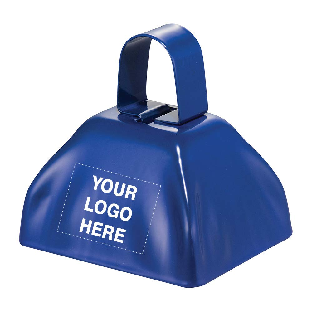 Ring-A-Ling Cowbell | 200 Qty | 2.09 Each | Customization Product Imprinted & Personalized Bulk with Your Custom Logo Blue by Promo Direct