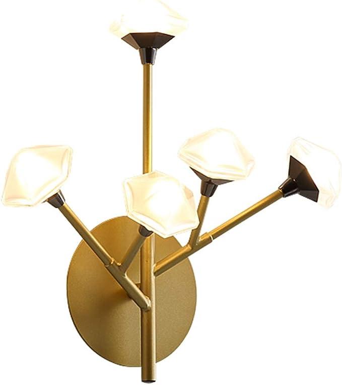 Lámparas de Pared Interiores Moderno 5 Cabezas Flor Prismático ...