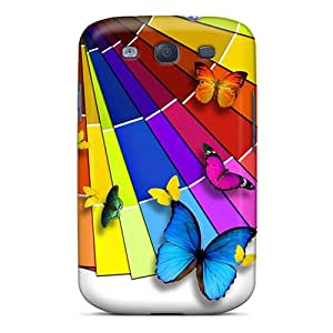 Samsung Galaxy S3 CfQ16459lwND Allow Personal Design HD Butterfly Skin Shockproof Cell-phone Hard Cover -DannyLCHEUNG