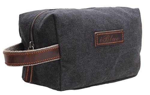 iblue-canvas-travel-toiletry-organizer-shaving-dopp-kit-cosmetic-makeup-bag-9-inch-b4-grey