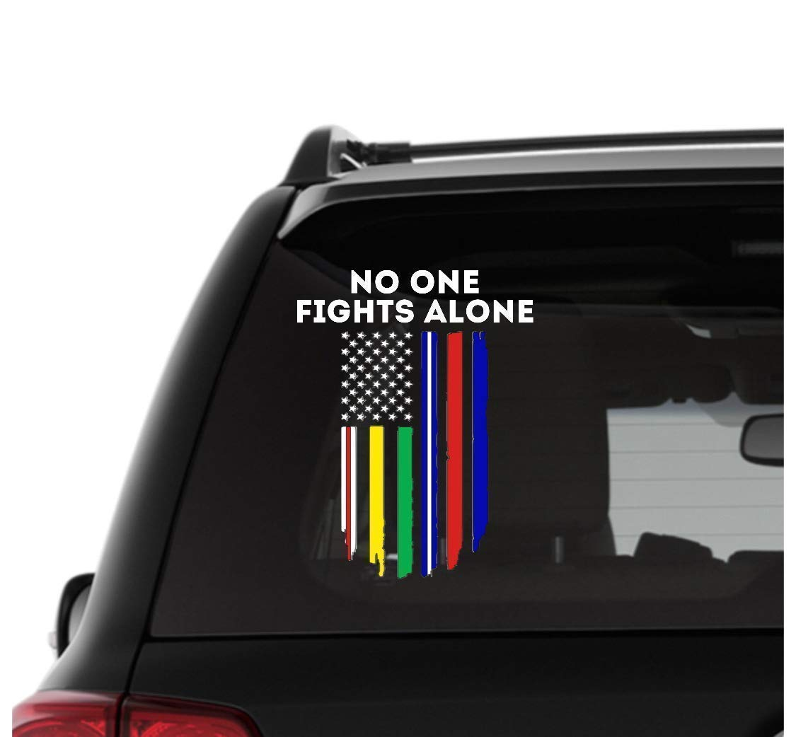 """Fighter Fight For Your Rights Car Bumper Sticker Decal 3/"""" x 6/"""""""