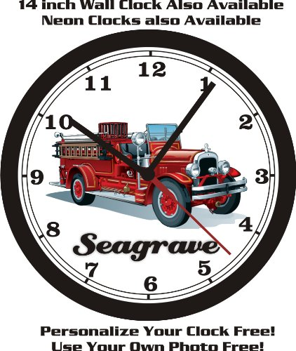 1929 SEAGRAVE FIRE ENGINE WALL CLOCK-FREE USA SHIP!
