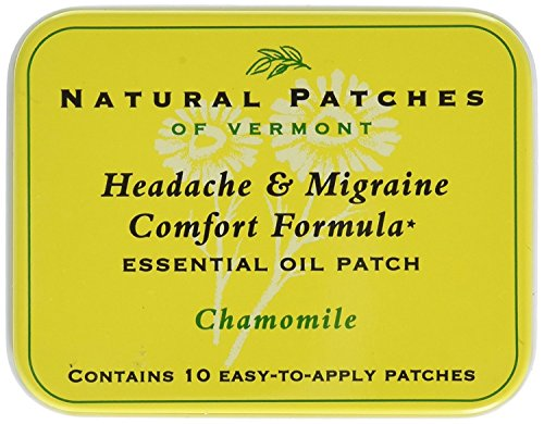 Naturopatch of Vermont Headache and Migraine Comfort Formula Essential Oil Body Patches, Chamomile, 2.6 Ounce (Naturopatch Essential Oil Patch)
