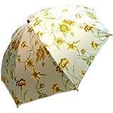 【雨傘】【婦人傘】レディース・ウィメンズ ポリエステルサテン 綾織り 日本製 花柄 折りたたみ傘 (55cm) ベージュ 2122208-BE