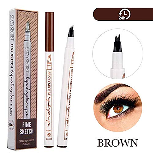 Arishine Eyebrow Tattoo Pen Microblading Eyebrow Pencil Tattoo Brow Ink Pen with a Micro-Fork Tip Applicator Creates Natural Looking Brows Effortlessly and Stays on All Day]()